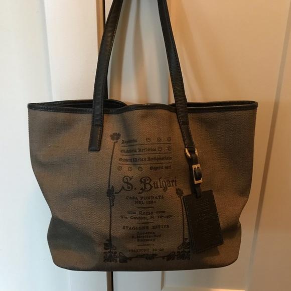 Bulgari Handbags - Bulgari tote bag